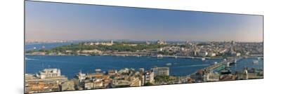 Bosphorus and Golden Horn Panorama from Galata Tower, Istanbul, Turkey-Michele Falzone-Mounted Photographic Print
