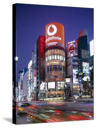 Ginza, Night View, Tokyo, Honshu, Japan-Steve Vidler-Stretched Canvas Print