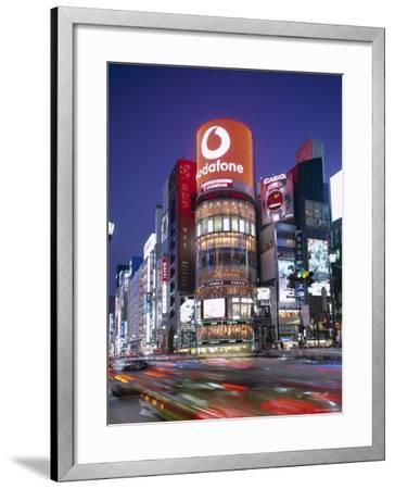 Ginza, Night View, Tokyo, Honshu, Japan-Steve Vidler-Framed Photographic Print