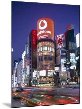 Ginza, Night View, Tokyo, Honshu, Japan-Steve Vidler-Mounted Photographic Print