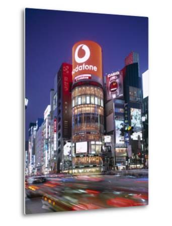 Ginza, Night View, Tokyo, Honshu, Japan-Steve Vidler-Metal Print