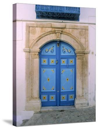 Doorway, Sidi Bou Said, Tunisia-Jon Arnold-Stretched Canvas Print