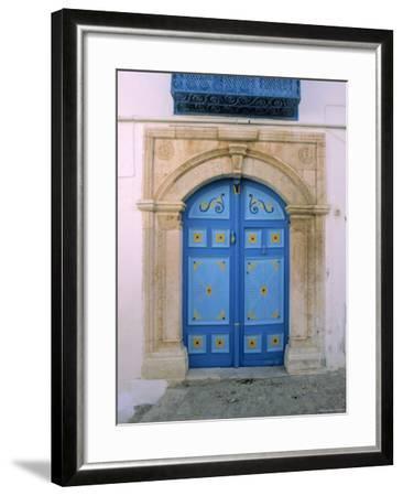 Doorway, Sidi Bou Said, Tunisia-Jon Arnold-Framed Photographic Print