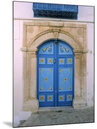 Doorway, Sidi Bou Said, Tunisia-Jon Arnold-Mounted Photographic Print