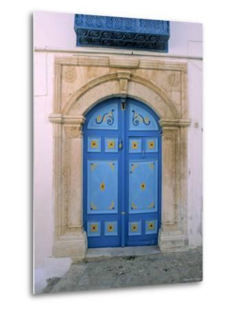 Doorway, Sidi Bou Said, Tunisia-Jon Arnold-Metal Print