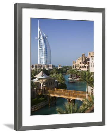 Burj Al Arab Hotel from the Madinat Jumeirah Complex, Dubai, United Arab Emirates-Walter Bibikow-Framed Photographic Print