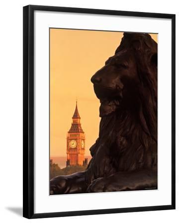 Big Ben from Trafalgar Sq. London, England-Doug Pearson-Framed Photographic Print