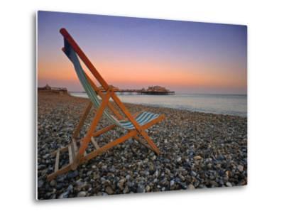 Beach at Brighton, East Sussex, England-Jon Arnold-Metal Print