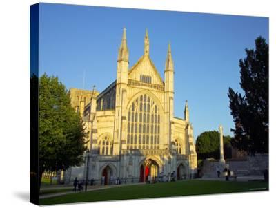 Cathedral at Winchester, Hampshire, England-Alan Copson-Stretched Canvas Print