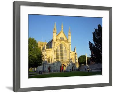 Cathedral at Winchester, Hampshire, England-Alan Copson-Framed Photographic Print