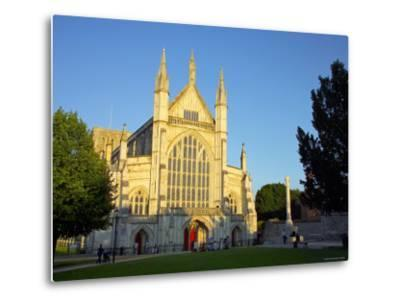 Cathedral at Winchester, Hampshire, England-Alan Copson-Metal Print