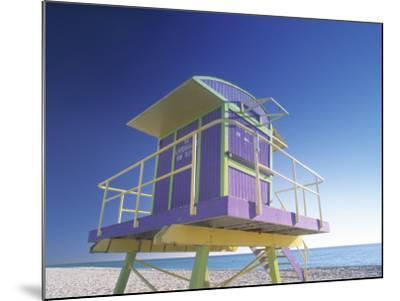 Lifeguard Station at Miami Beach, Miami, USA-Peter Adams-Mounted Photographic Print