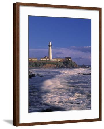 Pigeon Point Lighthouse, California, USA-Walter Bibikow-Framed Photographic Print