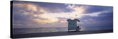 South Beach, Miami Beach, Florida, USA-Walter Bibikow-Stretched Canvas Print