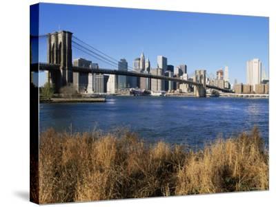 Brooklyn Bridge and Manhattan, New York City, USA-Doug Pearson-Stretched Canvas Print