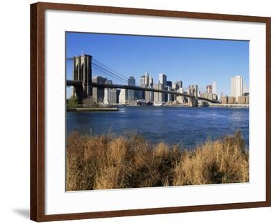 Brooklyn Bridge and Manhattan, New York City, USA-Doug Pearson-Framed Photographic Print