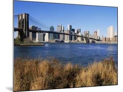 Brooklyn Bridge and Manhattan, New York City, USA-Doug Pearson-Mounted Photographic Print