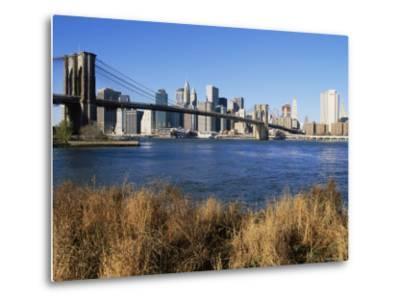 Brooklyn Bridge and Manhattan, New York City, USA-Doug Pearson-Metal Print