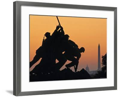 Iwo Jima Memorial, Washington D.C. Usa-Walter Bibikow-Framed Photographic Print