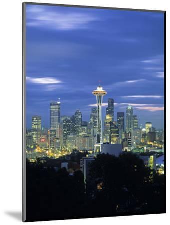 Seattle Skyline Fr. Queen Anne Hill, Washington, USA-Walter Bibikow-Mounted Photographic Print