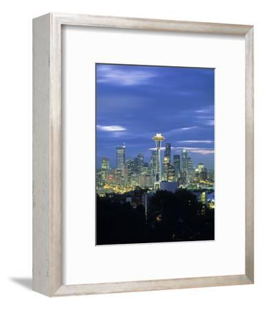 Seattle Skyline Fr. Queen Anne Hill, Washington, USA-Walter Bibikow-Framed Photographic Print