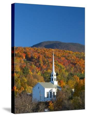 Church at Stowe, Vermont, New England, USA-Demetrio Carrasco-Stretched Canvas Print