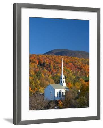 Church at Stowe, Vermont, New England, USA-Demetrio Carrasco-Framed Photographic Print