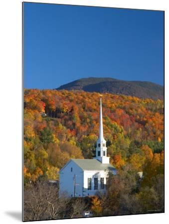 Church at Stowe, Vermont, New England, USA-Demetrio Carrasco-Mounted Photographic Print