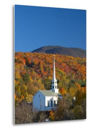 Church at Stowe, Vermont, New England, USA-Demetrio Carrasco-Metal Print