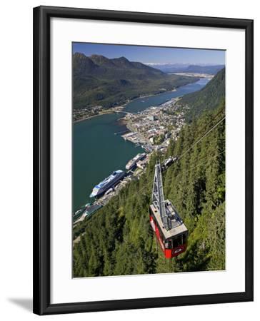 View from Mt. Robert'S, Juneau, Alaska, USA-Walter Bibikow-Framed Photographic Print
