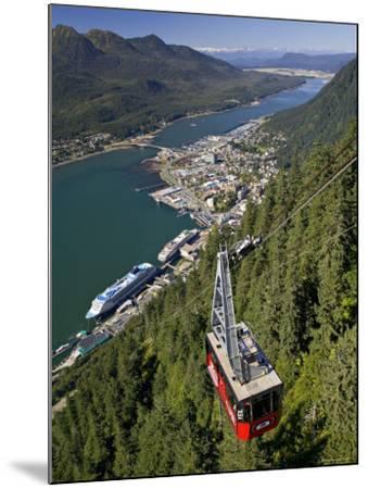 View from Mt. Robert'S, Juneau, Alaska, USA-Walter Bibikow-Mounted Photographic Print
