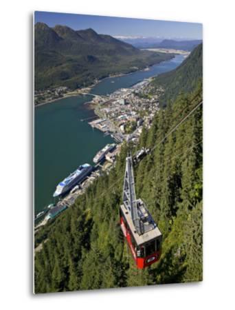 View from Mt. Robert'S, Juneau, Alaska, USA-Walter Bibikow-Metal Print
