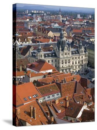 Town Hall, Graz, Styria, Austria-Walter Bibikow-Stretched Canvas Print