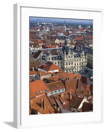 Town Hall, Graz, Styria, Austria-Walter Bibikow-Framed Photographic Print