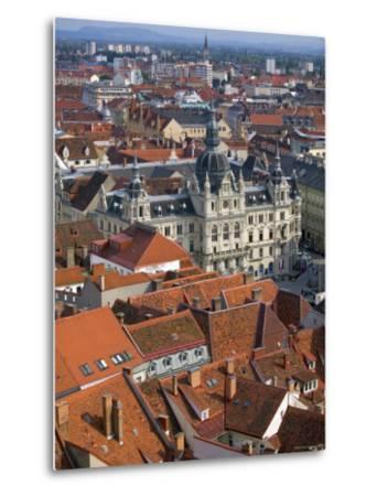 Town Hall, Graz, Styria, Austria-Walter Bibikow-Metal Print