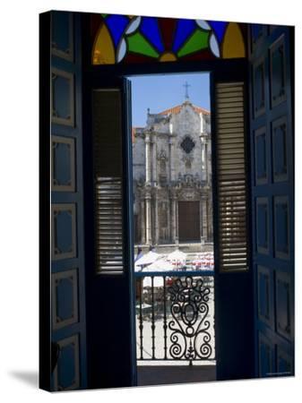 Plaza de La Catedral, Havana Vieja, Havana, Cuba-Peter Adams-Stretched Canvas Print