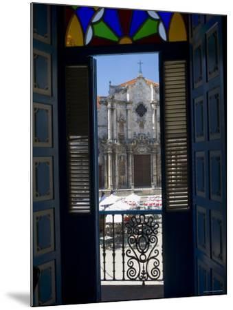 Plaza de La Catedral, Havana Vieja, Havana, Cuba-Peter Adams-Mounted Photographic Print