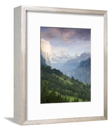 Wengen and Lauterbrunnen Valley, Berner Oberland, Switzerland-Doug Pearson-Framed Photographic Print