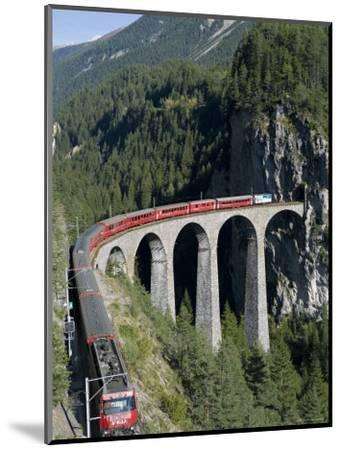 Glacier Express and Landwasser Viaduct, Filisur, Graubunden, Switzerland-Doug Pearson-Mounted Photographic Print
