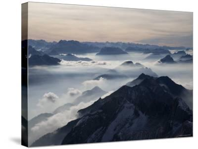 View from the Mount Santis, Appenzell Innerrhoden, Switzerland-Ivan Vdovin-Stretched Canvas Print