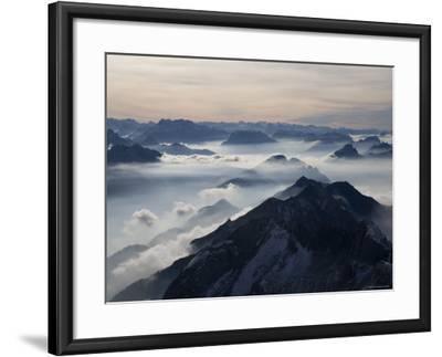 View from the Mount Santis, Appenzell Innerrhoden, Switzerland-Ivan Vdovin-Framed Photographic Print