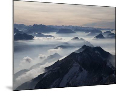 View from the Mount Santis, Appenzell Innerrhoden, Switzerland-Ivan Vdovin-Mounted Photographic Print