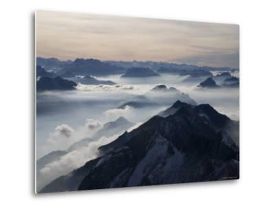 View from the Mount Santis, Appenzell Innerrhoden, Switzerland-Ivan Vdovin-Metal Print