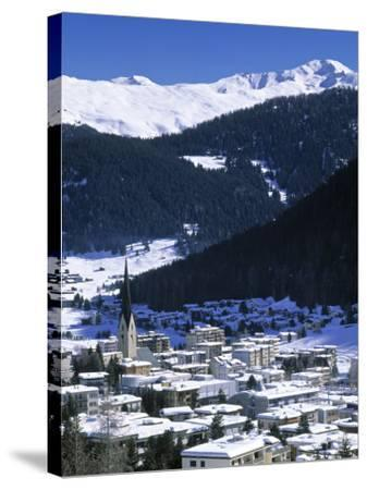Davos, Graubunden, Switzerland-Walter Bibikow-Stretched Canvas Print