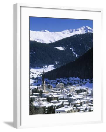 Davos, Graubunden, Switzerland-Walter Bibikow-Framed Photographic Print