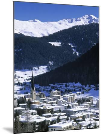 Davos, Graubunden, Switzerland-Walter Bibikow-Mounted Photographic Print