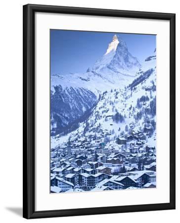 Zermatt, Valais, Switzerland-Walter Bibikow-Framed Photographic Print