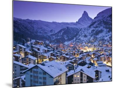 Zermatt, Valais, Switzerland-Walter Bibikow-Mounted Photographic Print