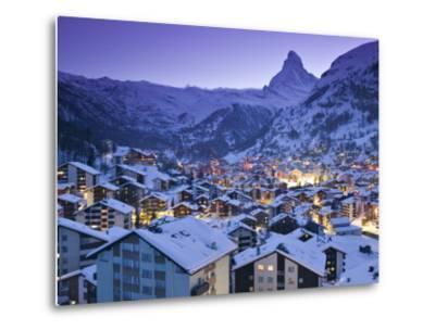 Zermatt, Valais, Switzerland-Walter Bibikow-Metal Print