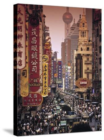 Nanjing Dong Lu, Shanghai, China-Walter Bibikow-Stretched Canvas Print